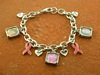 Breast Cancer Awareness Charm Bracelet